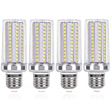 SanGlory LED E27 Maíz Blanco Frio, 15W equivalente a 120W Incandescente Bombilla, 1720lm, 6000K E27 Tornillo Edison Bombillas LED, AC 220-240V, Ángulo 360°, No Regulable - 4 unidades