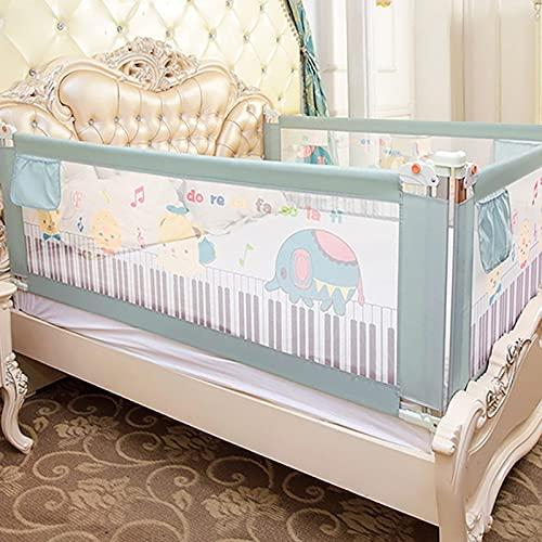 PPuujia Riel de cama ajustable para cama de bebé, puertas de seguridad, carriles ajustables para niños, centro de actividades seguro para guardamanos de cama para niños (color: 1,5 m)