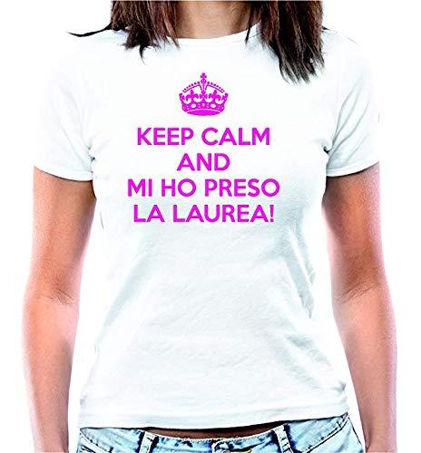 Hero Tee T-Shirt Keep Calm Mi Ho preso la Laurea! - Maglia Donna Sagomata Scherzo Divertente