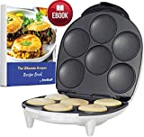 Arepa Maker and Mini Pancake Maker by StarBlue with FREE Arepa Recipes eBook - Quick and Electric Arepa Maker making 6 Venezuela and Colombia styles Arepas and Mini Pancakes in 6 minutes AC 120V 60Hz 1200W