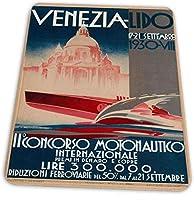 マウスパッド ゲーミングマウスパッド-ヴェネツィアリド1930ヴィンテージ滑り止め デスクマット 水洗い 25x30cm