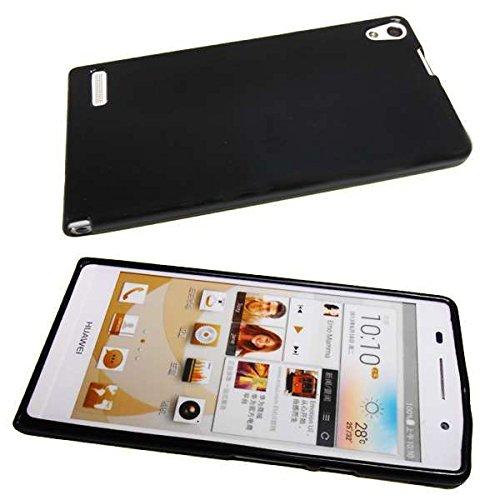caseroxx TPU-Hülle für Huawei Ascend P6, Tasche (TPU-Hülle in schwarz)