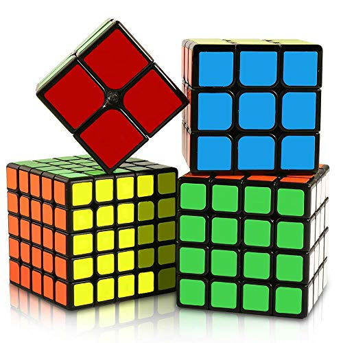 Moyu Set di Cubo Professionale Ultima Generazione 2x2x2 - 3x3x3 - 4x4x4 - 5x5x5 -Speed Cube Veloce Liscio Materiale Durevole Attossico Antistress per Bambini e Adulti Confezione Regalo