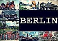 BERLIN horizontal (Wandkalender 2022 DIN A2 quer): Streets of Berlin (Monatskalender, 14 Seiten )