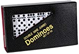Dominoes Double 9 Nine Jumbo Size White Tile with Spinners