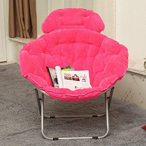 chaise Grande de Lune paresseuse de Radar Siesta Pliant Fauteuil inclinable de Soleil tête de Pliage Peut être posée, Couleur: Rose