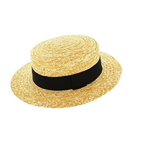 Votrechapeau - Sombrero de paja auténtica Paille naturelle 60 cm