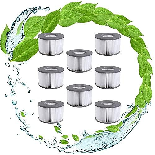 LPFNSF - Filtro per vasca idromassaggio per piscine gonfiabili MSpa, filtri per vasca idromassaggio, cartucce di ricambio per MSpa per vasche idromassaggio Bubble Spa (8 pezzi)