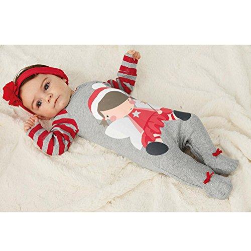 Hibote Costume NEONATA Babbo Natale Santa Claus Bambino