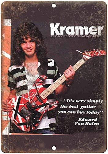 Ellis Kramer Guitarras eléctricas de Metal para Tienda de Hombre, decoración del hogar, Garaje