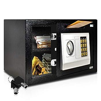 SereneLife Drop Box Safe Box   Safes & Lock Boxes   Front Loading Safe Cash Vault Drop Lock   Safe Security Box   Digital Safe Box   Money Safe Box   Steel Alloy Drop Safe Includes Keys  SLSFE342