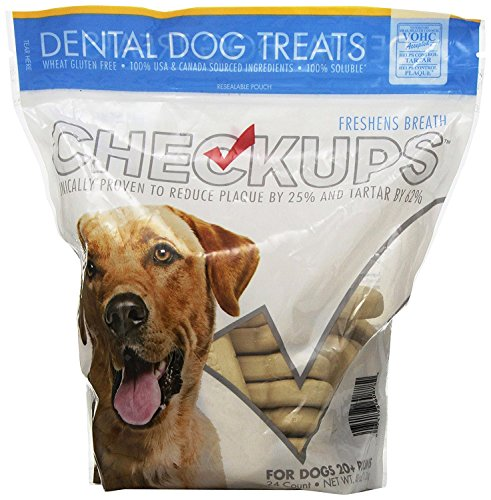 Checkups- Dental Dog Treats, 24ct 48 oz. for dogs 20+ pounds Two Pack