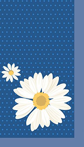 Duni Dunicel tafelkleden, My Daisy Blue, Medium, 84 x 84 cm