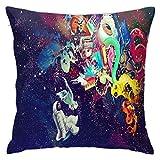 Trippy - Funda de almohada suave para cojín decorativo, diseño moderno, cuadrado, 66 x 66 cm