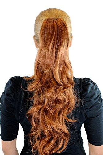 Extension, Haarteil, Kupferblond, Zopf, Haarverlängerung, Butterfly-Klammer, gewellt, gestuft, ca. 50 cm, JL-0082-30