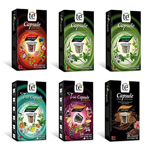 CUIDA TÉ - Té Cápsulas Nespresso, Compatibles con Má