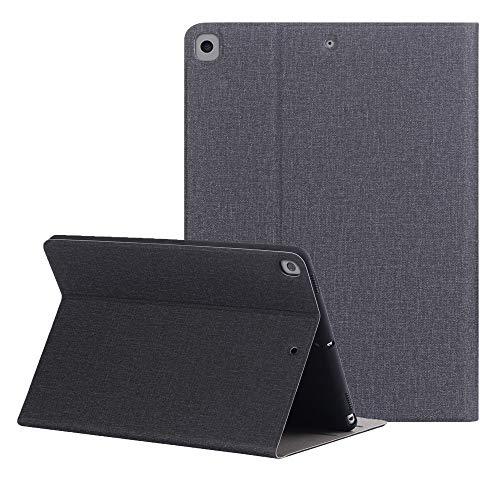 ZST Slim Custodia Cover iPad 10.2 9 Generazione 8 Generazione 7 Generazione Generation 2021 2020 2019 (Auto Sveglia/Sonno), Interni in Morbido TPU, Nero
