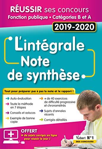 L'intégrale de la Note de synthèse : Catégories A et B - Concours 2019-2020