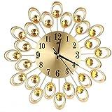 Macro Metal Art Wall Reloj - Moda Arte de Hierro Big Reloj Flor Radial Big 3D...