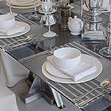 Tischset Abwaschbar, Aibesser Platzsets Abwischbar 6er Set, Platzdeckchen Abwaschbar PVC, Hitzebeständig Abgrifffeste und Waschbare für Küche Hause Restaurant und Hotel - 6