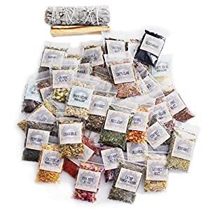 Witchcraft Herbs Kit   60 Herbs for Witchcraft   Hoodoo Herb and Root Magic   Witch Herbs   Rituals   Wiccan Herbs   Dried Herbs and Flowers for Spells   Spell Kit Supplies Set   Herb Sampler Kit