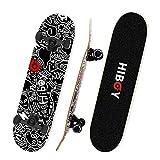 Hiboy Alpha Skateboards for Beginners, Standard Skateboard 31'' x 8'', ABEC-11 Bearing, 95A High Rebound PU Cushion, Pro Skateboard for...