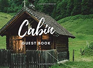 cabin guest book: country side hut cover for vacation time with nature