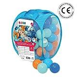 LUDI - Sac de 75 balles multicolores souples en plastique anti-écrasement. A partir...
