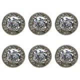 KESYOO 6Pcs Moda Botón de Bricolaje Botones de Diamantes de Imitación Botones de Camisa de Cristal Botón de Ropa de Circonio Botones de Ropa Vintage Botón de Disfraz Decorativo para