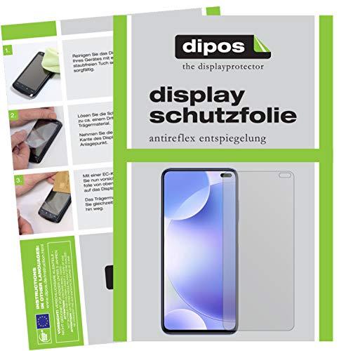 dipos I 6X Schutzfolie matt kompatibel mit Xiaomi Poco F2 Pro Folie Bildschirmschutzfolie (bewusst Kleiner als das Glas, da Dieses gewölbt ist)