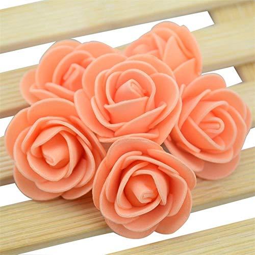 50/100/200 stks mini kunstmatige pe schuim rose bloem hoofd voor handgemaakte diy bruiloft woondecoratie feestartikelen krans craft, oranje, 200 stks