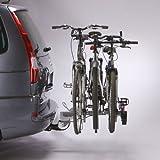 Mottez A007P3RA - Plataforma portabicicletas con Enganche para 3 Bicicletas