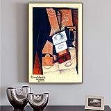 Juan Gris Old Famous Master Artista español El molinillo de café Pintura en lienzo Póster Impresión para la decoración de la pared de la habitación Arte de la pared (56x84cm) 22 'X33' sin marco