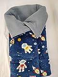 MOON-BEBE Saco de pular algodón universal para cuco y capazo (azul)