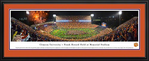 CLEMSON FOOTBALL VS NOTRE DAME - Deluxe Framed Panorama Print with Double Mat by Blakeway Worldwide Panoramas