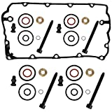 Set di 4 guarnizioni BOSCH per ugello di iniezione incl. viti + guarnizione del coperchio della valvola VDD, set di riparazione 1.9 2.0 TDI MOTORCODE BKC BMM BLS BPW BLT