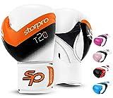 Starpro Niño T20 Guantes de Boxeo | Cuero PU | Azul Rosa y Blanco | para Entrenamiento y Sparring de jóvenes...