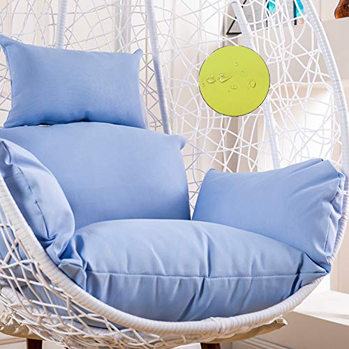 Papasan Chair Cushions, Swing Basket Cushion, Thick Comfortable, for Rocking Chair, Hanging Baskets, Swing Chair, for Indoor or Outdoor, with Pillow,Sky Blue