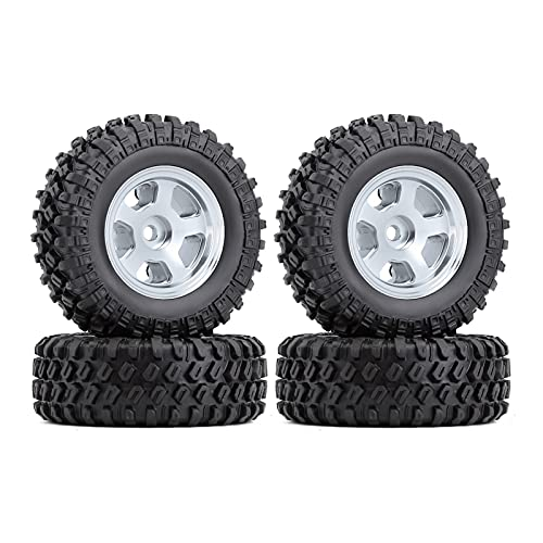 HYZZ Neumáticos de Coche de Juguete 4 Uds 1,0 '49 * 18mm Beadlock Micro Llantas De Rueda De Orugas Juego De Neumáticos para 1/24 RC Crawler Car Axial SCX24 90081 AXI00001 ( Size : 4PCS AX2402SR )