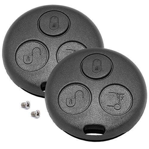 KONIKON 2 Stück Autoschlüssel Gehäuse 3 Tasten Fernbedienung kompatibel für Smart ForTwo MC01 450 Neu