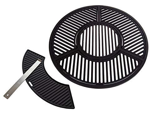 JX für 57 cm Kugelgrills: Kompletter hochwertiger Grillrost aus Gusseisen (Sear Grate) (100% Passgarantie auf Weber 57 cm Kugelgrills)