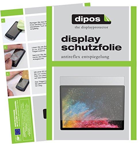 dipos I 2X Schutzfolie matt kompatibel mit Microsoft Surface Book 2 13.5 Zoll Folie Bildschirmschutzfolie