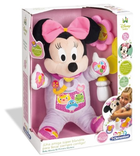 Clementoni Peluche interactiva Minnie Mi Primera Muñeca, color rosa, 36.8 x 28.2 x 16.5, 65547