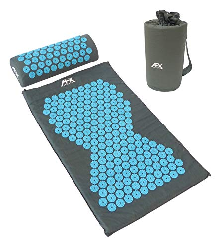 AFX Acupressure Mat & Pillow Set with Carry Bag - Bed of Nails/Massage/Wellness/Relaxation...