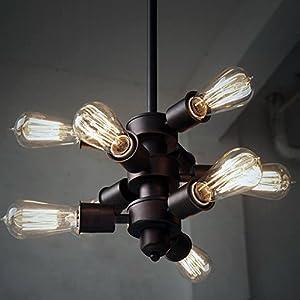 Purelume™ Vintage PureNine Hängelampe Schwarz mit Edison Nostalgie 40W Glühbirnen