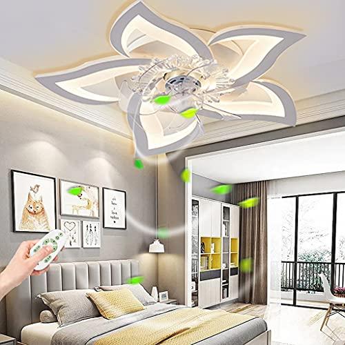 COOYO Ventilateur De Plafond Avec Éclairage LED Ventilateur Moderne Plafonnier Forme Fleur Créativité Silencieux Chambre D'enfant Télécommande Dimmable LumièresLustre Acrylique Salon Salle Manger