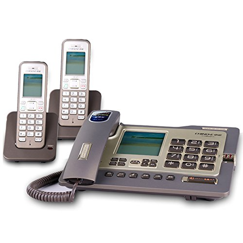 Telephone, Wired Fixed Landline and Cordless Machine Combination, Free Intercom, Three-Way Calling, One-on-one Office ZSMPY (Color : B)