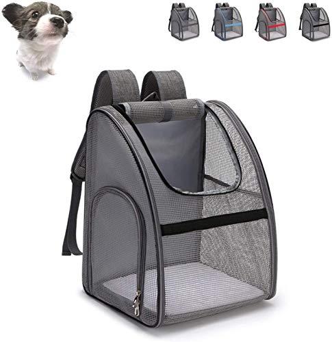 Transportin gato Pet Carrier Mochila for Perros Gatos, bolsa de malla grande...