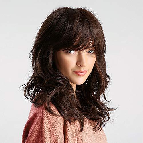 obtener pelucas marrones onduladas online