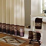 DS CURTAIN Aubrey Fabric Shower Curtain,Polyester Shower Curtain,Waterproof Shower Curtains for Bathroom,Printed Bathroom Curtains,72' W x 72' H